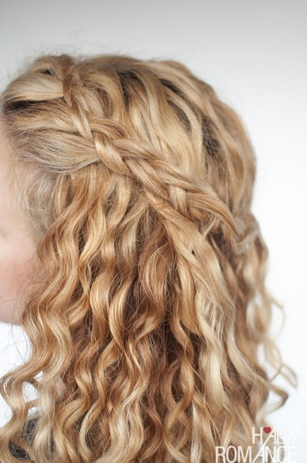 An Easy Half Up Braid Tutorial For Curly Hair Hair Romance Curly Hair Styles Naturally Curly Hair Tips Easy Hair Updos
