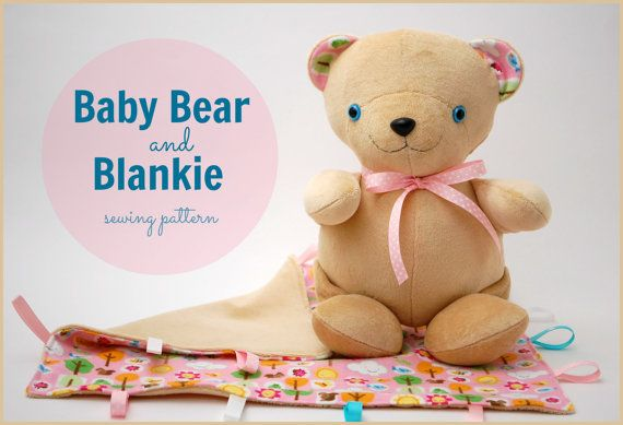Baby Bear and Blankie PDF Sewing Pattern - a quick and easy baby ...