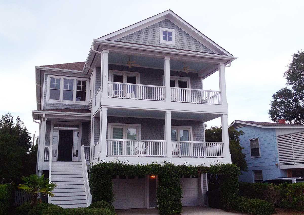 Plan 15086nc Beach Cottage With Elevator Coastal House Plans Beach House Plan Beach House Design