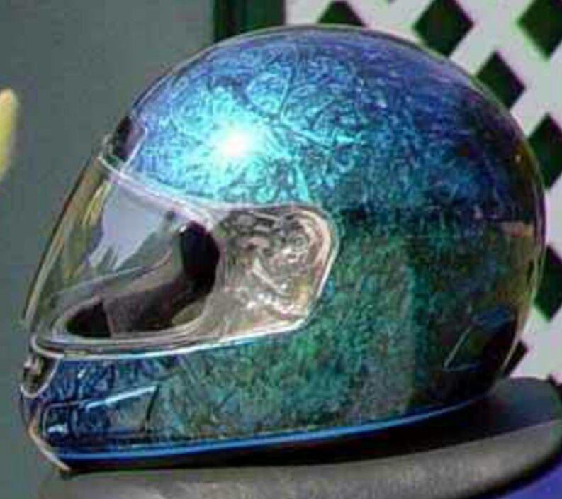 Cool Pearl Marble Effect Custom Helmets Custom Paint Motorcycle Helmets