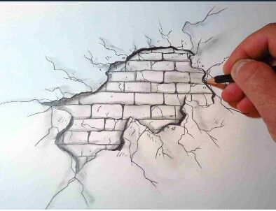Easy D Line Drawings : Cool ways to make your drawing look 3 d. i think i'll try this soon