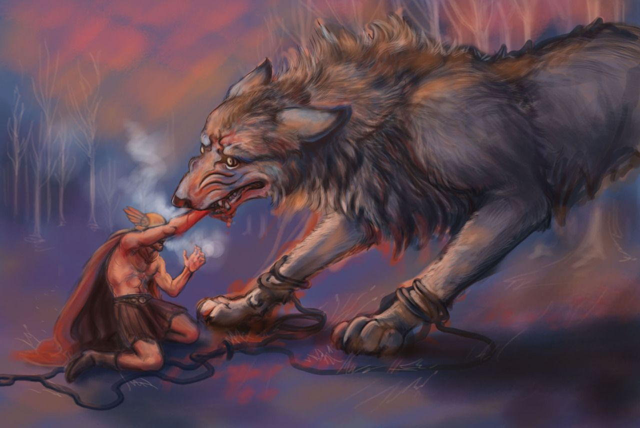 Binding Wolf Fenrir - Norse Mythology - History of Vikings 39f3d4e0a