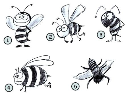 Drawing A Cartoon Bee With Images Bee Drawing Cartoon Bee