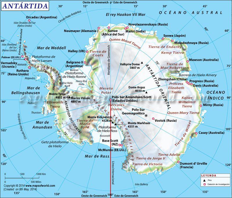 Mapa De La Antartida Obtener El Mapa De La Antartida Y Saber Mas Informacion Sobre El Continente Antartico Junto Antartida Mapa Antartida Continente Antartico
