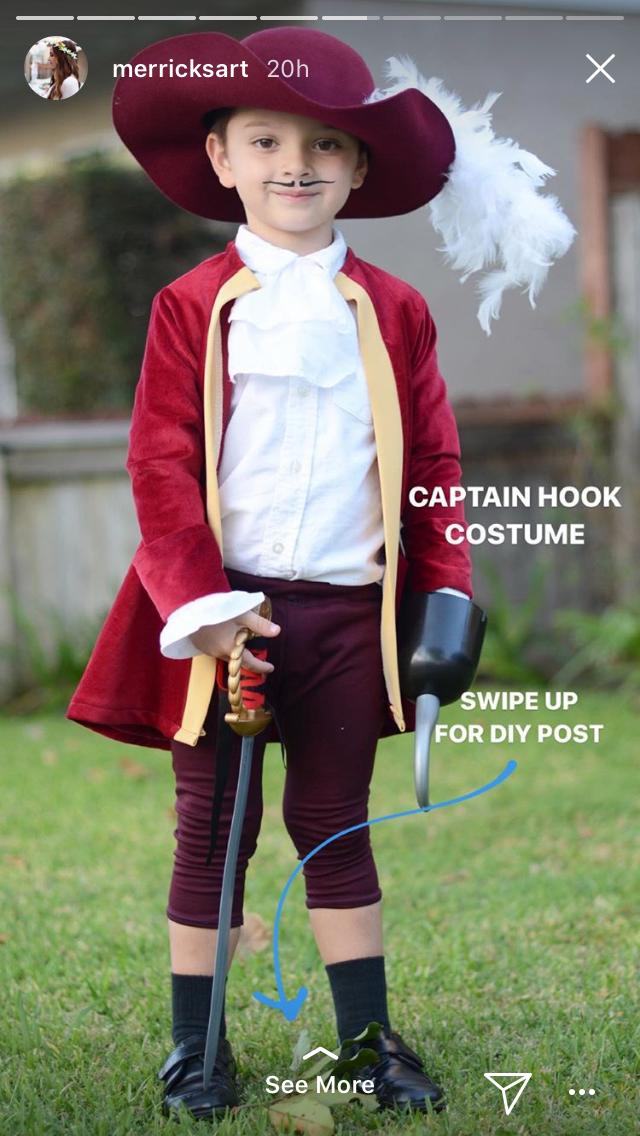 Pin By Agravez On Holidays Girls Homemade Captain Hook Costume Homemade Halloween