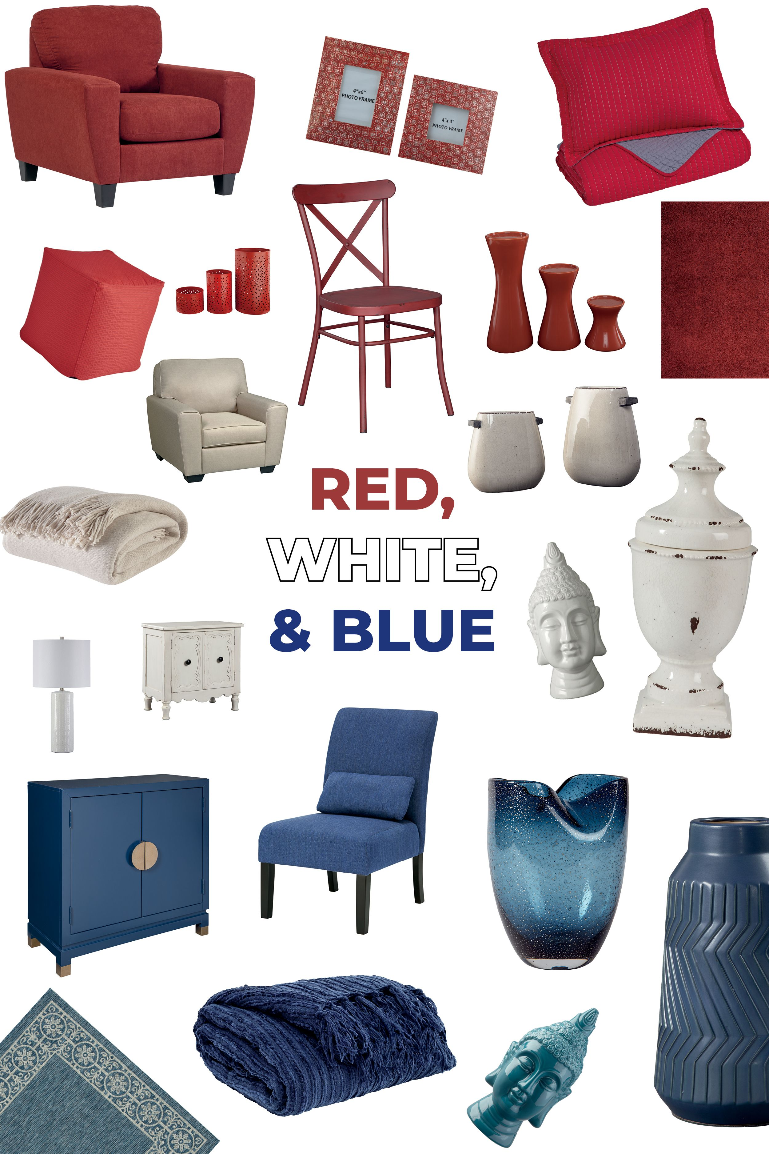 Red White Blue Home Furniture And Accessories By Ashley
