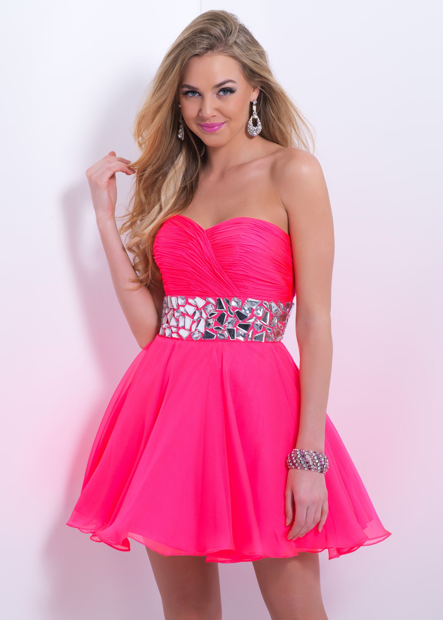 Blush barbie pink strapless sweetheart dress rissyroos