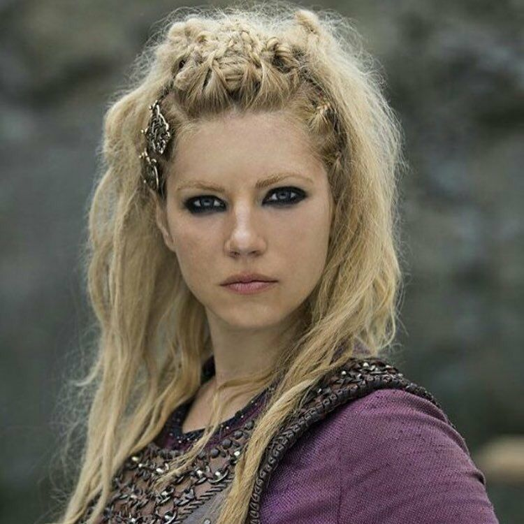 Lagertha in purple Viking hair, Lagertha hair, Hair styles