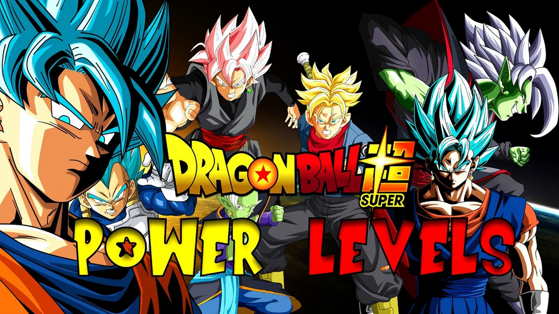 Dragon Ball Super Power Levels Wallpaper Wallpaper Super