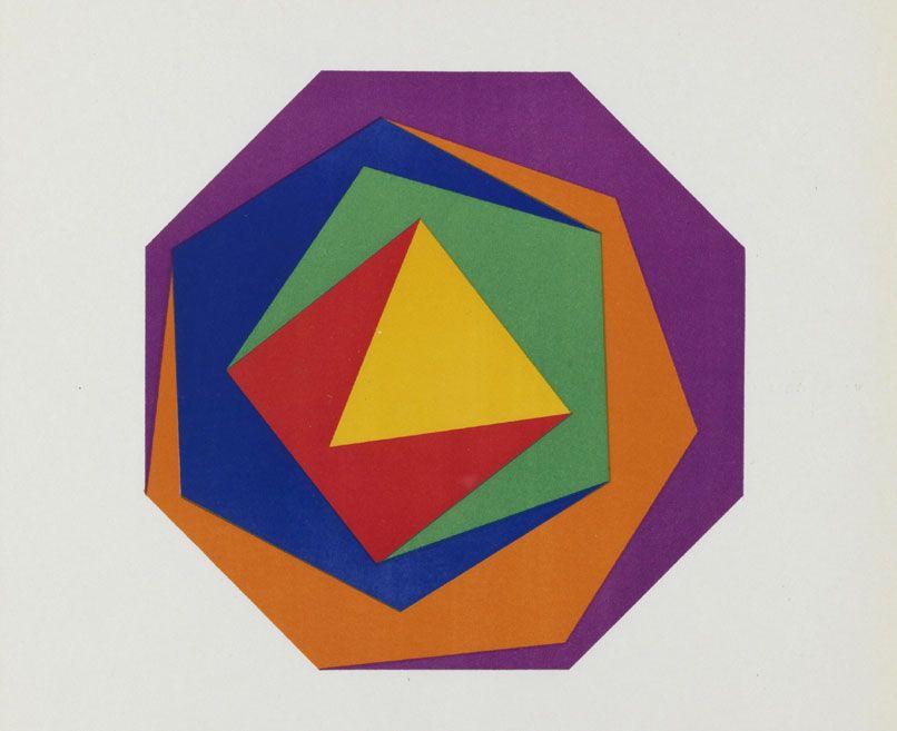 Max Bill, Quinze variations sur une meme theme, 135-38, Lithographie, 32 X 30 cm, © VBK, Wien 2008, Sammlung Haus Konstruktiv, Zürich.
