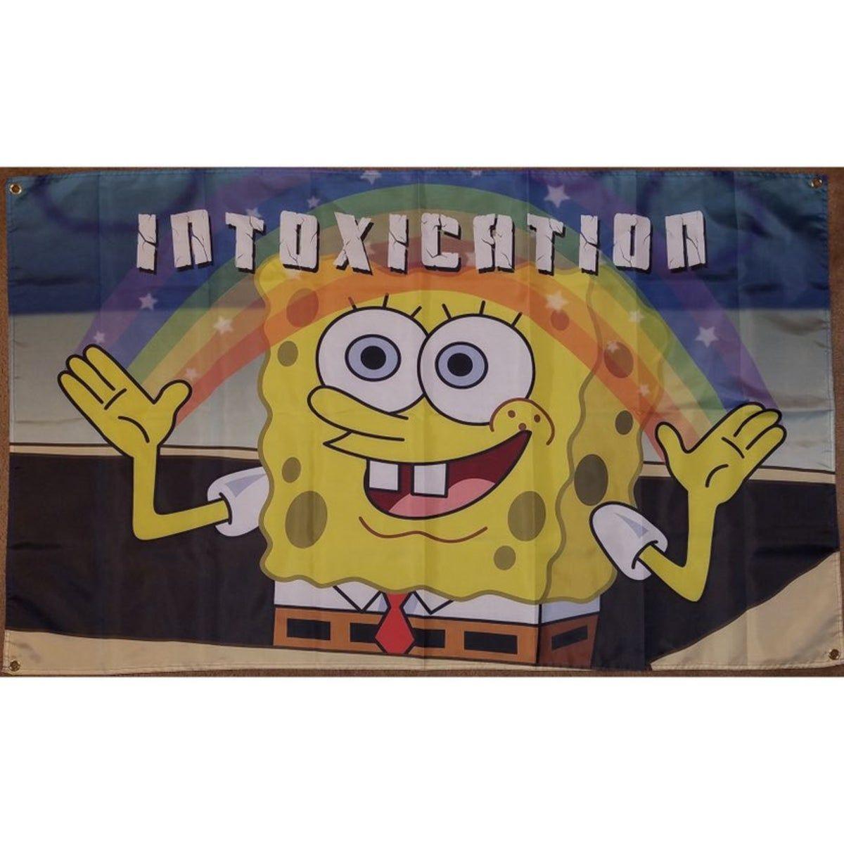 Spongebob Intoxication Rainbow 3x5 Feet Beer pong table
