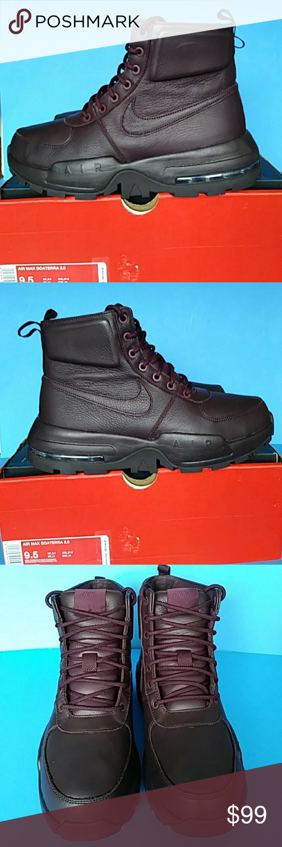 b9bb97dba2 BRAND NEW NIKE LEATHER AIR MAX BOOTS 100 % AUTHENTIC NIKE AIR NAX GOATERRA  2.0 UNISEX