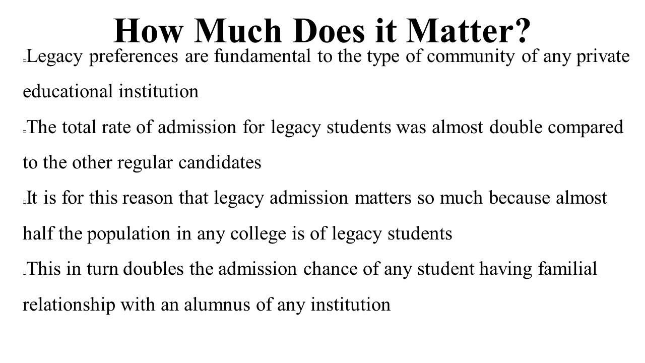 Looking for college degree to pursue your dream career? Find the college that suits you at http://onlinecollegeguru.com/  What are Legacy Admissions:This article explains about legacy admissions, from how much it matters to why it's important.