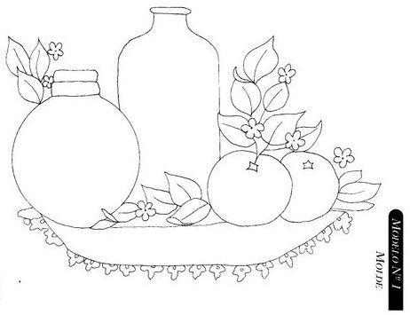 Moldes Para Pintar En Tela De Frutas Redwork Art Embroidery