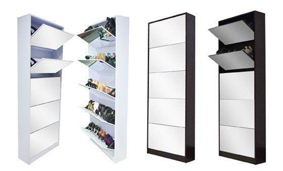 Luxury Mirror Shoe Cabinet