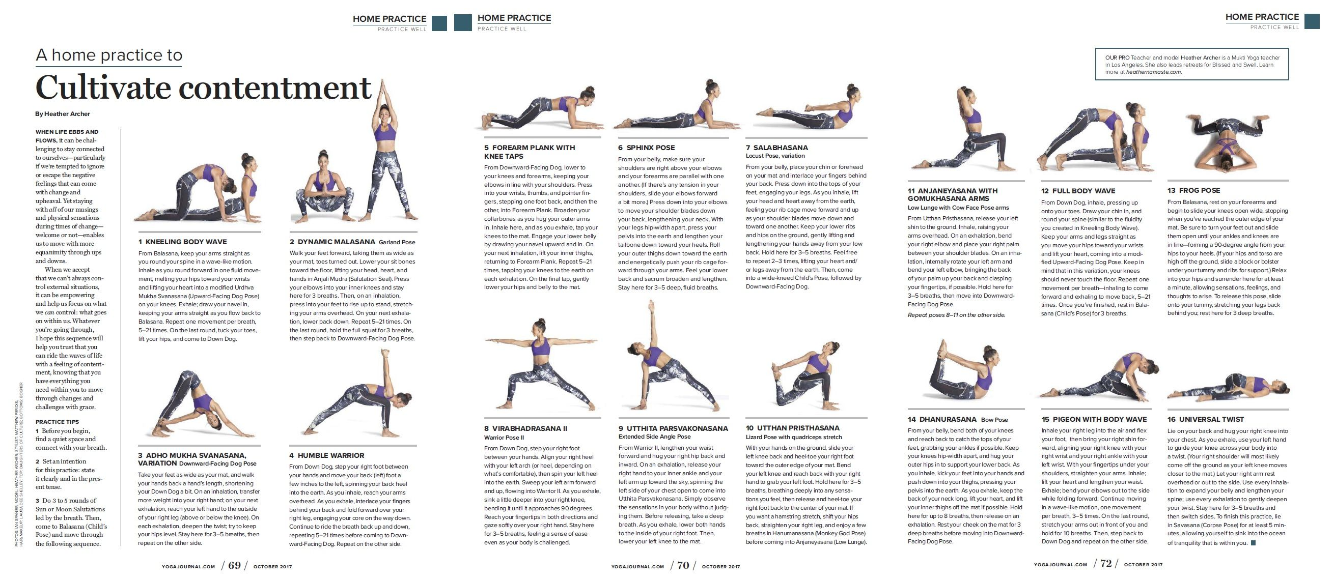 Yoga Sequence In Yoga Journal Yoga Sequences Yoga Practice Yoga Journal