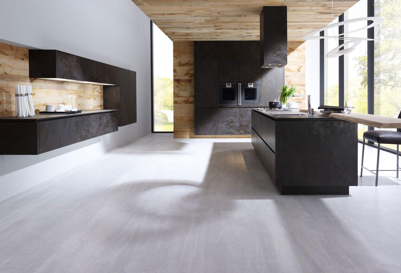 ALNOSTAR CERA The New Ceramic Kitchen From ALNO UK In Oxide Nero - Modern kitchen designs uk