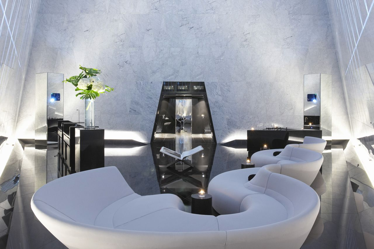 Foster + Partners, Atrium Champagne Bar, Londra. Photo Nigel Yung, Foster + Partners