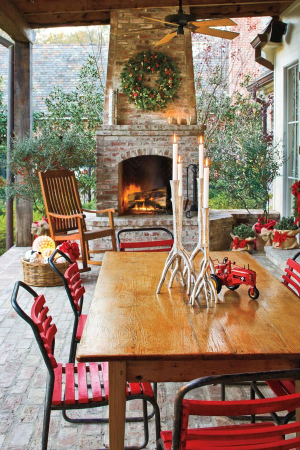 Add Cheer To Outdoor Spaces   101 Fresh Christmas Decorating Ideas    Southernliving. Donu0027t Neglect Outdoor Patios And Porches In Your Christmas  Decorating.