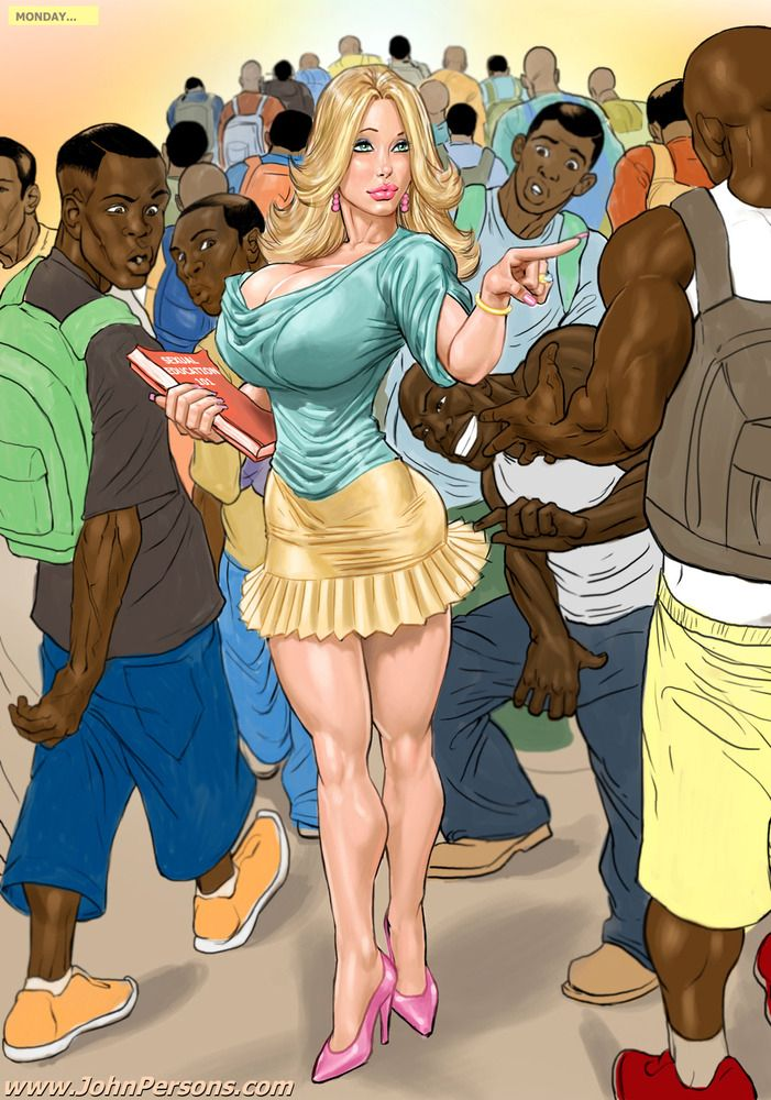 John persons interracial cartoon porn