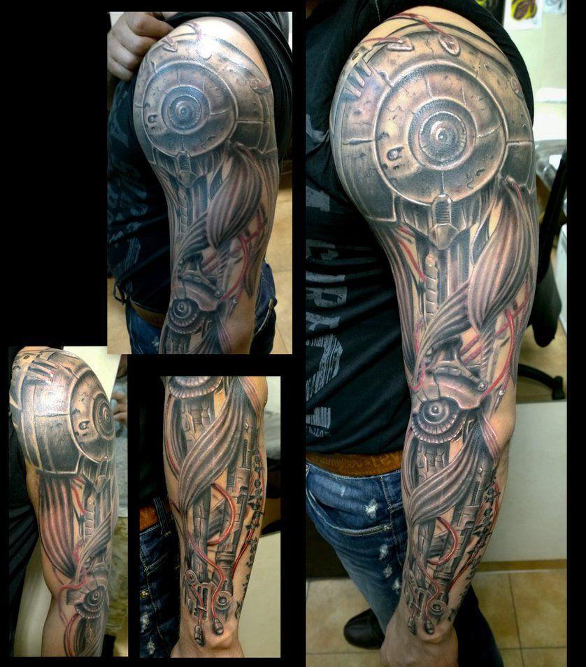 Tattoo gear tattoo sleeve mechanic tattoo mechanical tattoo gears - Robotic Arm Tattoo Sleeve And Details