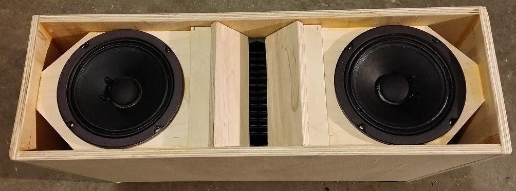 Plans To Build La206 Dual 6 5 Line Array Speaker Cabinet 1823535511 Speaker Plans Speaker Speaker Cabinet