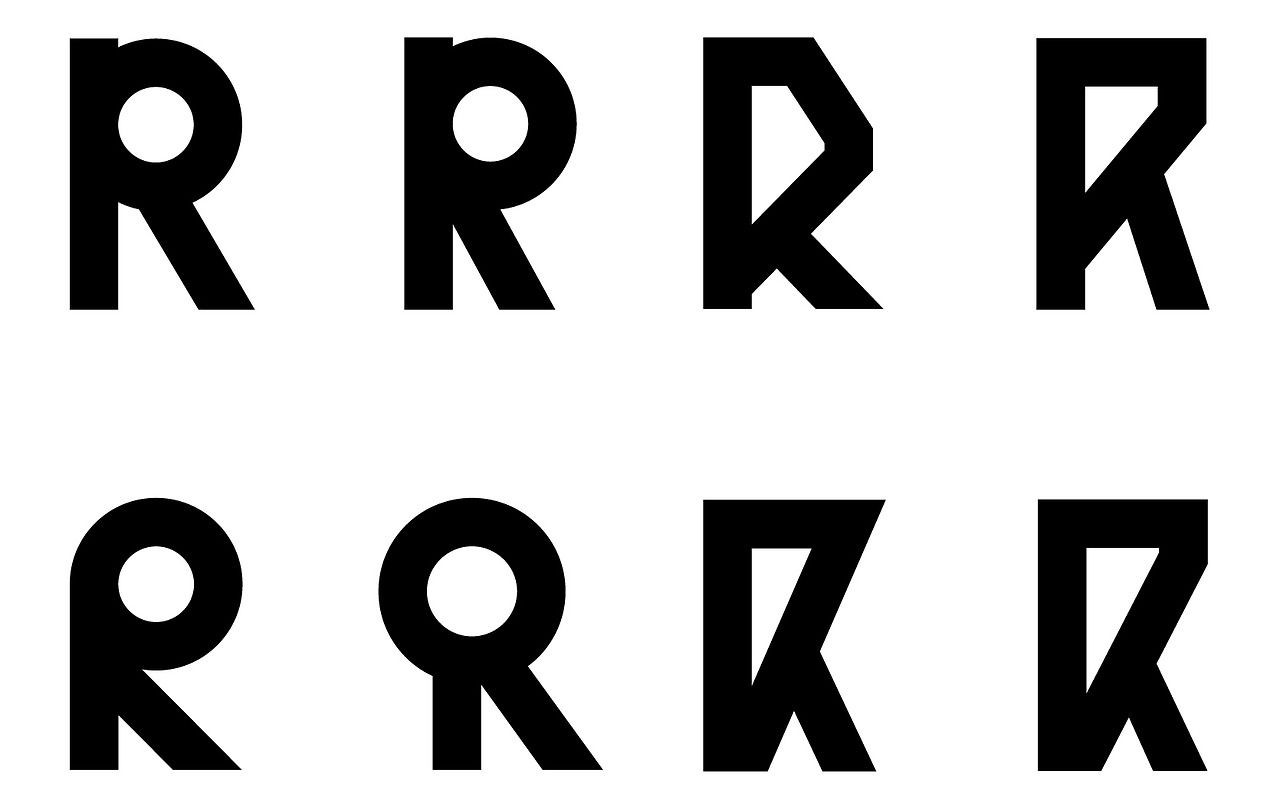 Glyphs, part of the Visual Identity for Bauhaus-Archiv Berlin, L2M3.