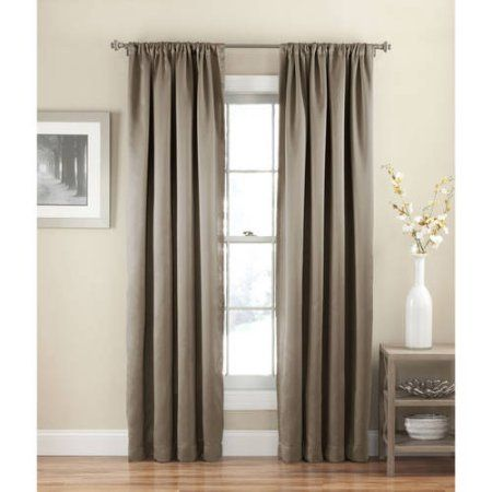 Eclipse Solid Thermapanel Room Darkening Curtain Panel Walmart Com Room Darkening Curtains Drapes Curtains Panel Curtains