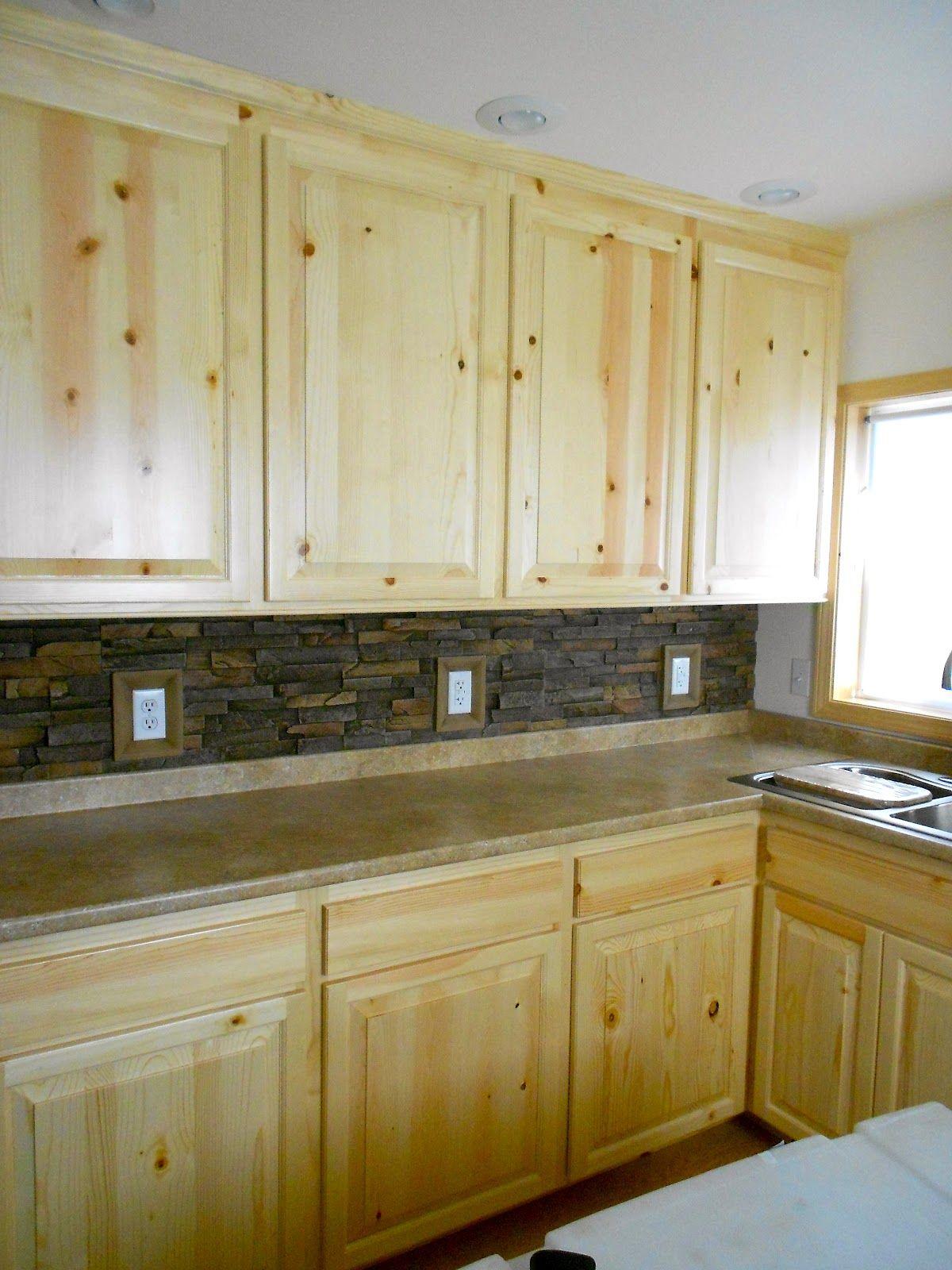 Want, pine kitchen cabinets | Knotty pine kitchen, Pine ...