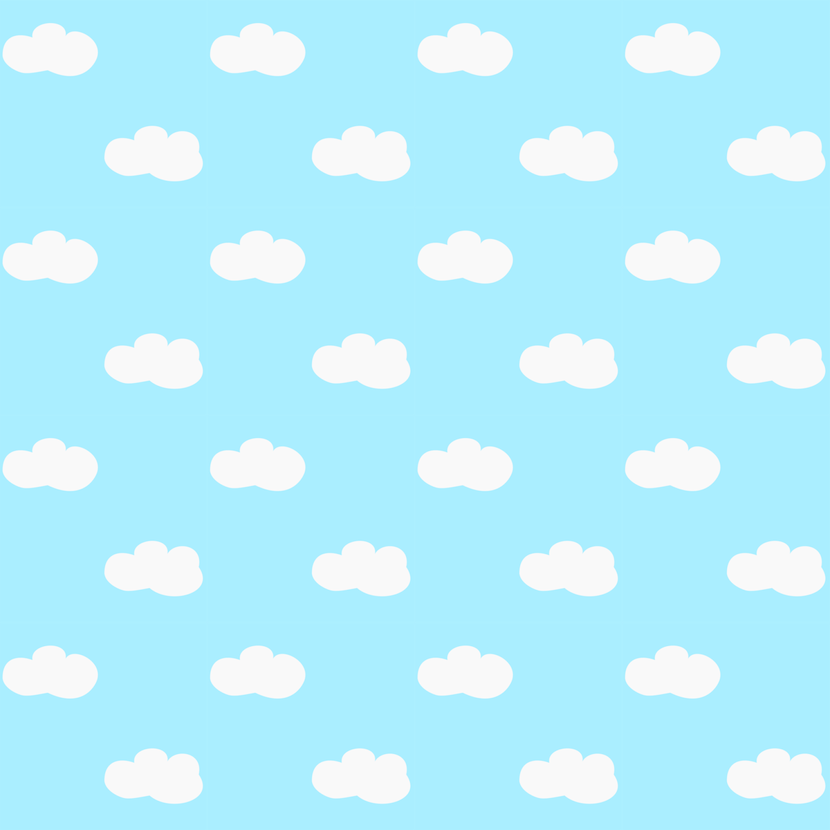 Scrapbook paper designs to print - Free Printable Fluffy Clouds Pattern Paper