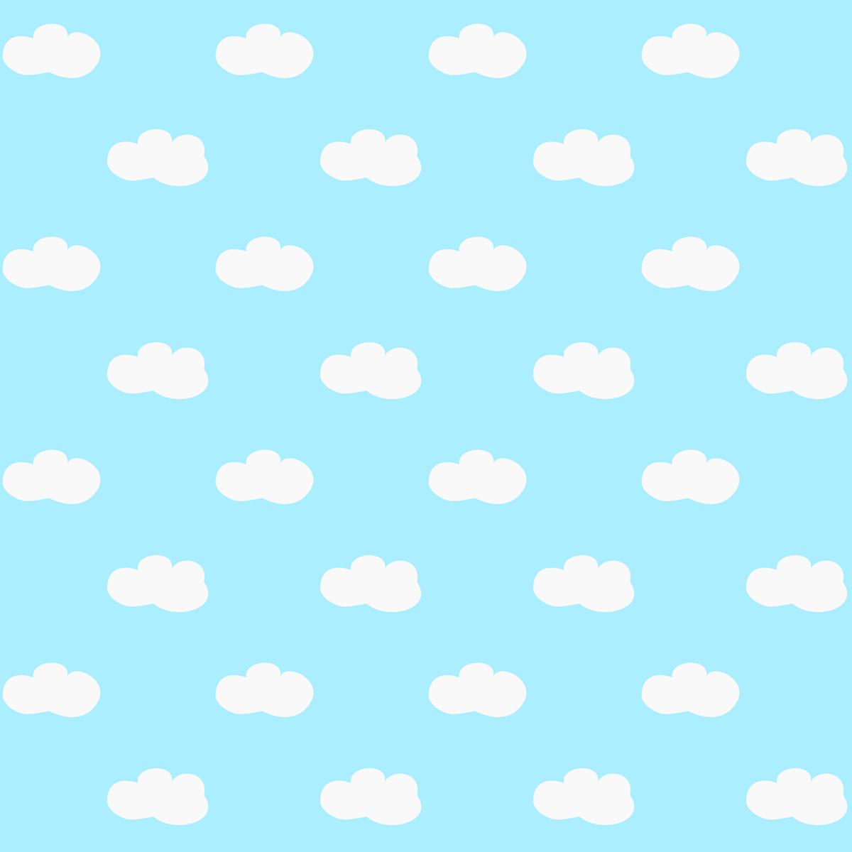Scrapbook paper designs - Free Printable Fluffy Clouds Pattern Paper Scrapbook