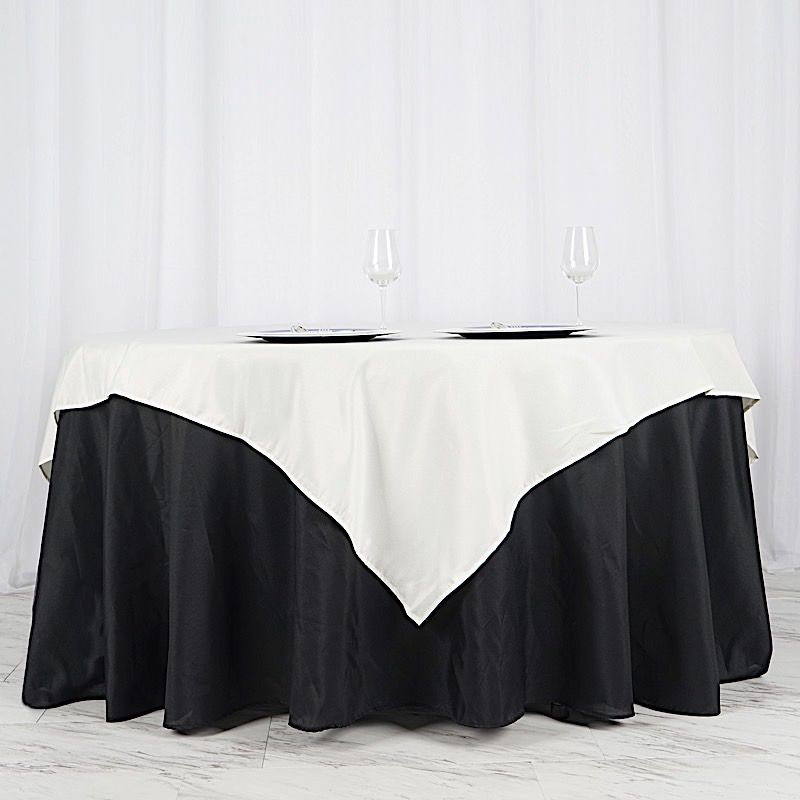 Balsacircle 70 X 70 Square Polyester Tablecloth Table Covers For Party Wedding Reception Catering Dining Home Table Linens Walmart Com Table Overlays Table Linens Wedding Table Overlays