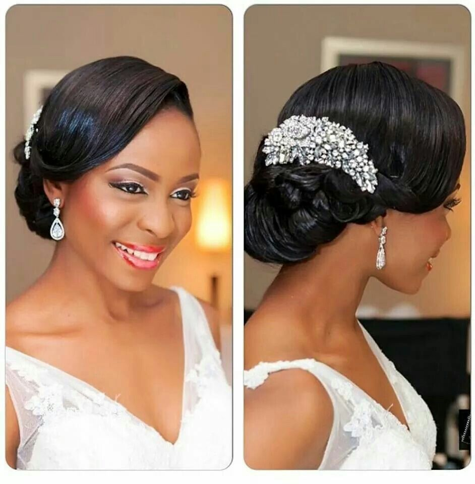 black bride african american nigerian wedding makeup | hair