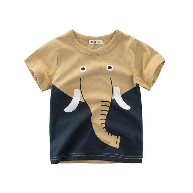 Kids Boys Summer Cartoon Short Sleeve T-Shirts Tops Tee Clothes Age 2-8 Years UK