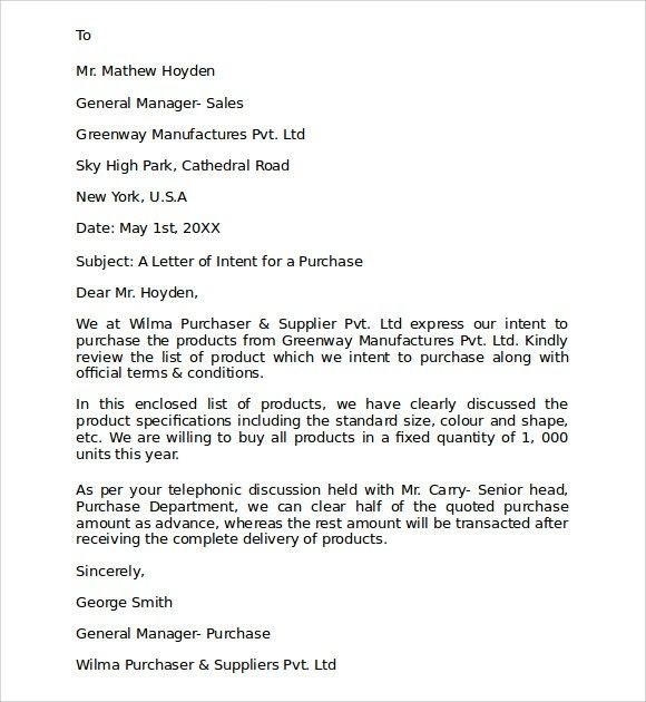 letter of intent to offer business business purchase offer letter