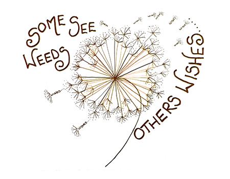 Some see Weeds Doodle Card   Zipadeedoodle