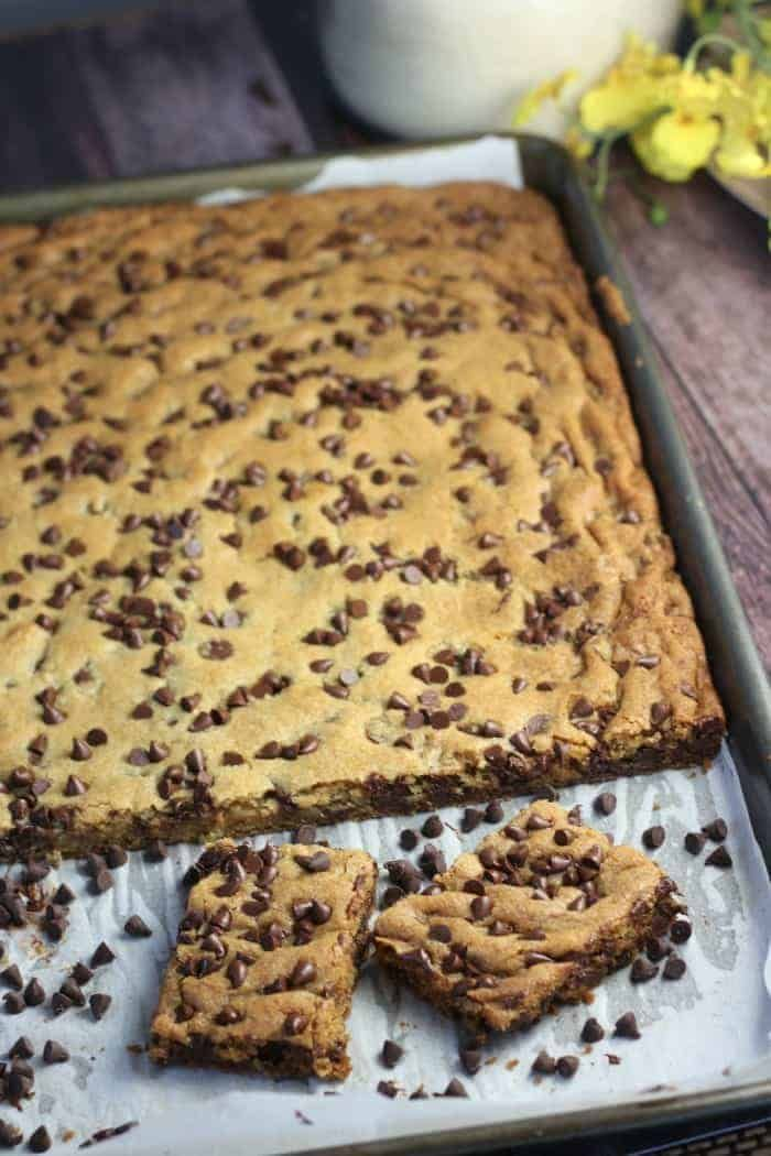 Chocolate Chip Cookie Bars For A Crowd Recipe Chocolate Chip