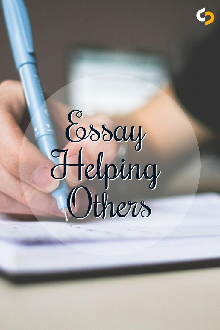 An essay on helping others