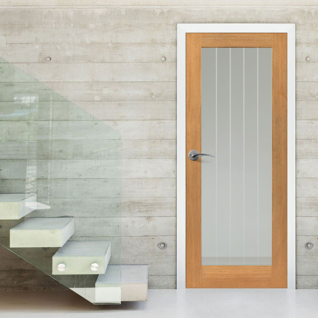 interior clear glass door. JBK River Oak Thames 1 Light Door With Etched Lines On Clear Glass Is Very Pretty Interior