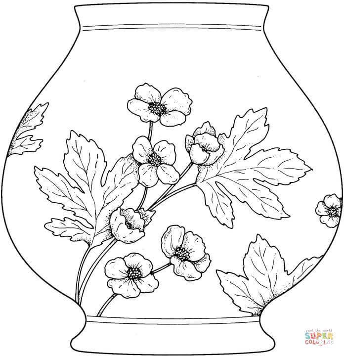 Vase Super Coloring Boyama Sayfalari Cizimler Sanatsal Resimler