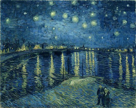 VAN GOGH STARRY NIGHT /& STARRY NIGHT RHONE Fine Art Canvas Giclee Repros 36 x 24