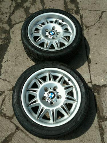 Bmw E36 M3 Evo Sunflower Staggered Alloy Wheels Tyres Genuine