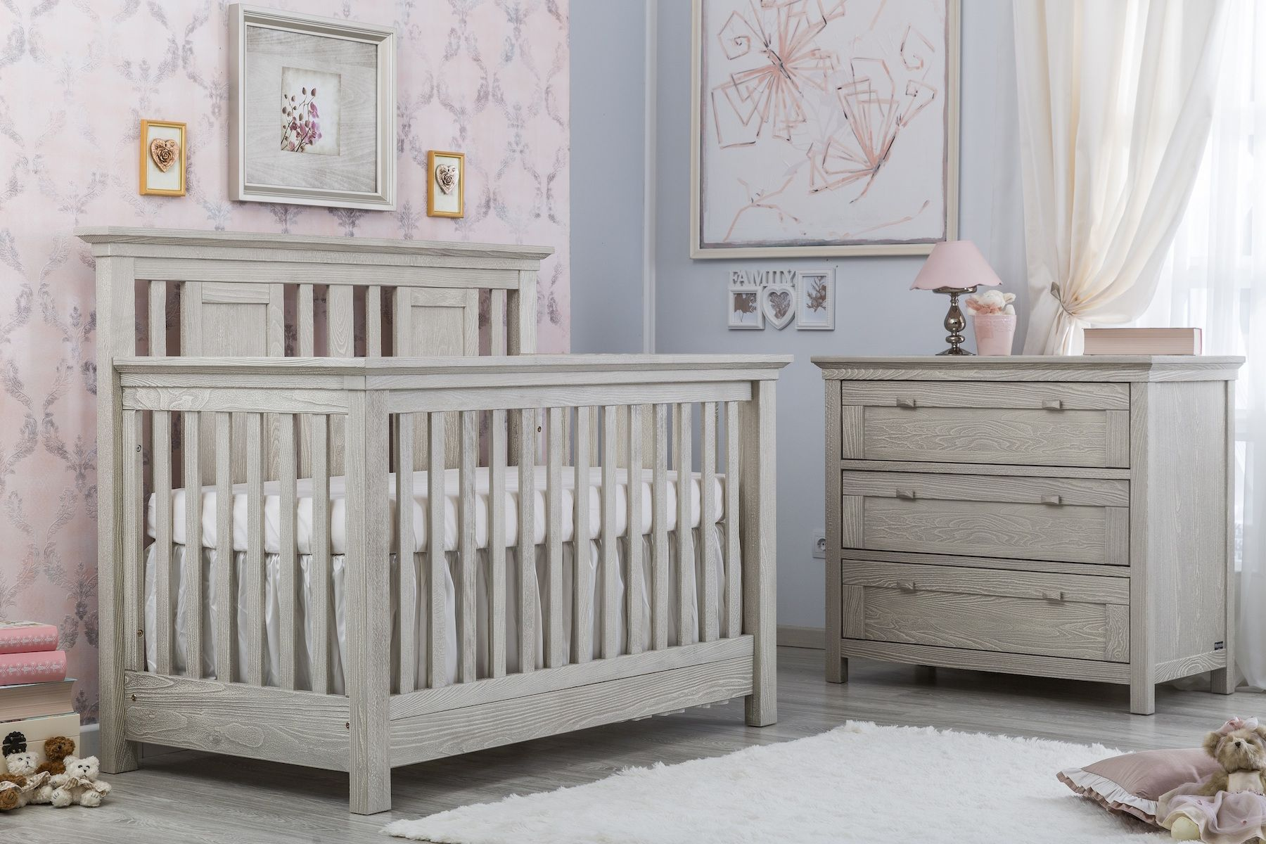 furniture romina cribs crib pin stationary york new