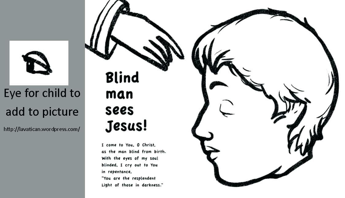 Jesus Heals The Blind Man Craft Jesus Heals Sunday School