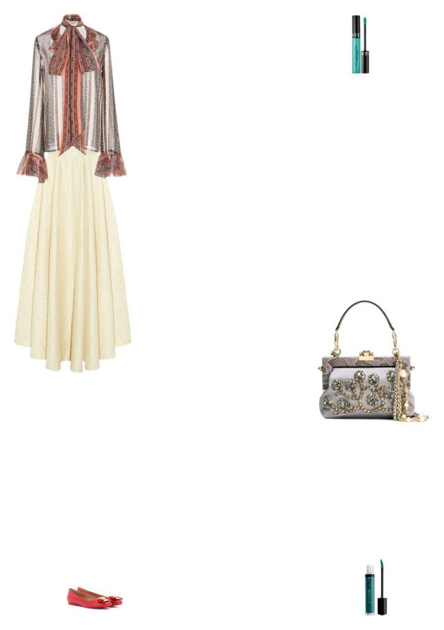 """Grace"" by zoechengrace on Polyvore featuring The Row, Rodarte, Dolce&Gabbana, Salvatore Ferragamo, Sephora Collection and NYX"