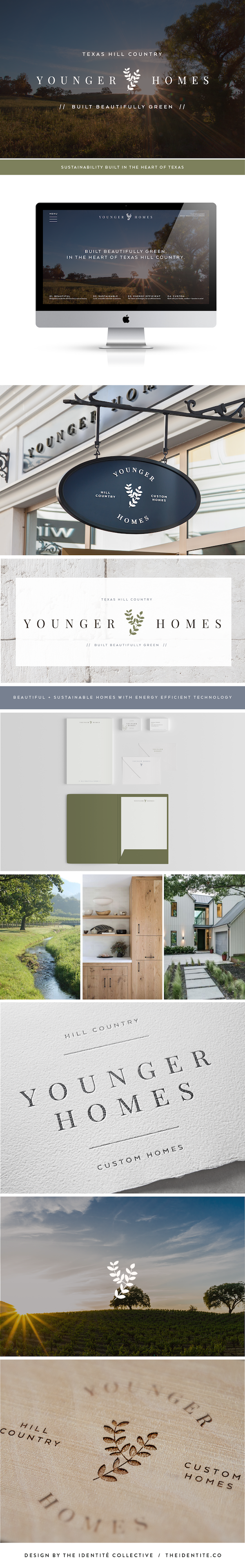 Green, eco-friendly home builder branding and web design by The ...