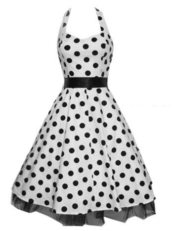 R Dresses Swing London Vintage H Polkadot Svart amp; Kjole 50 Talls 6qPgwT5v