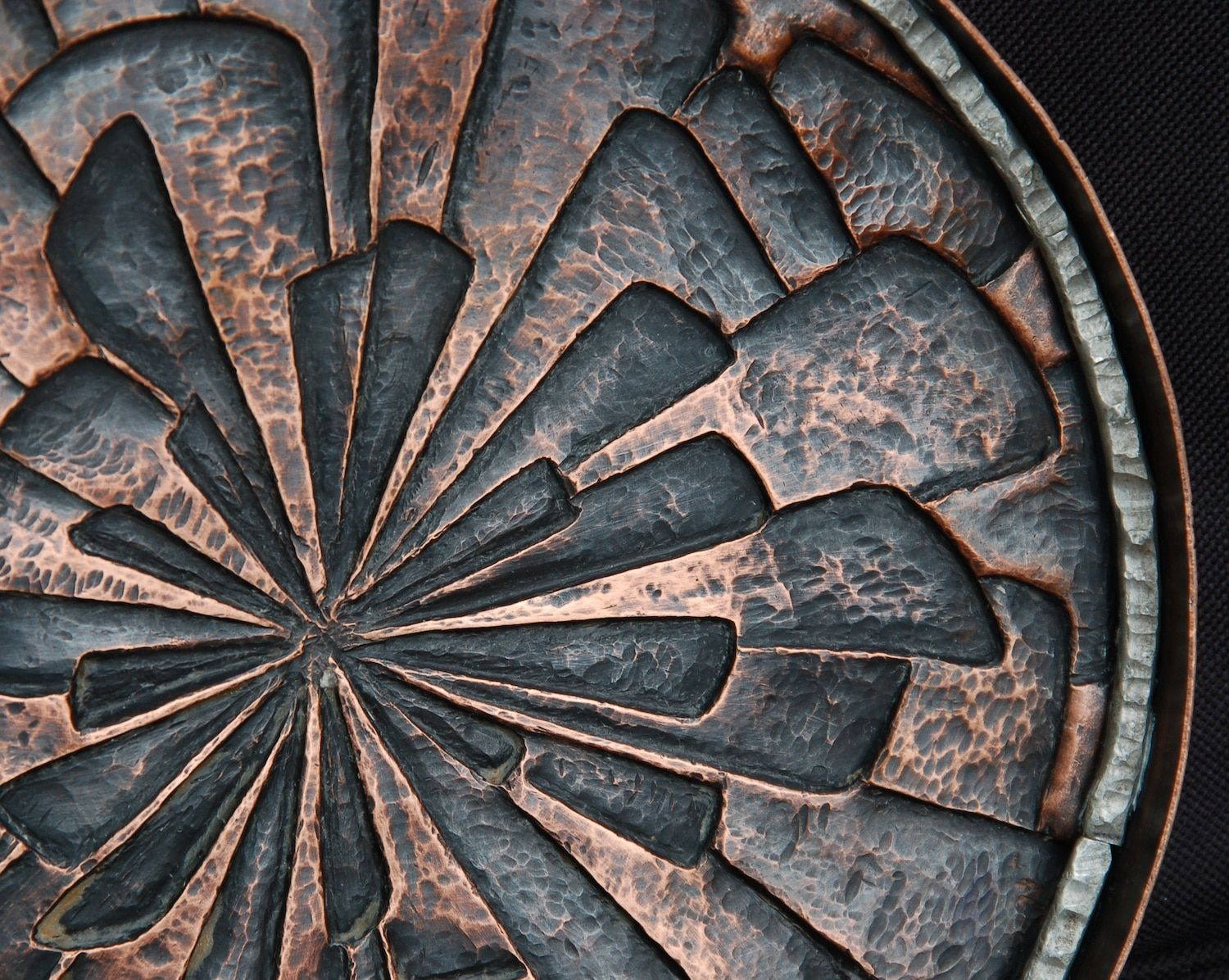 Outdoor Wall Sculpture Abstract Copper Repousse Wall Sculptureabstract Copper Repousse