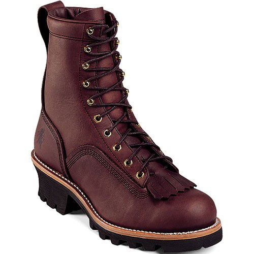 73075 Chippewa Men S Laced Sport Work Loggers Redwood Boots Logger Boots Work Boots