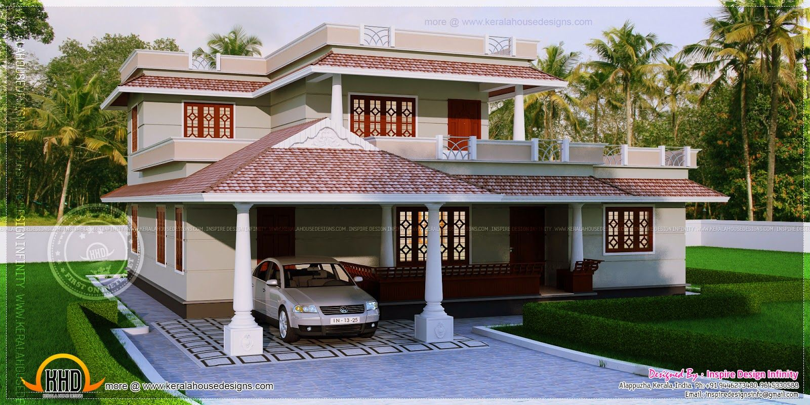 Bedroom kerala style house square yards indian house plans India house plans